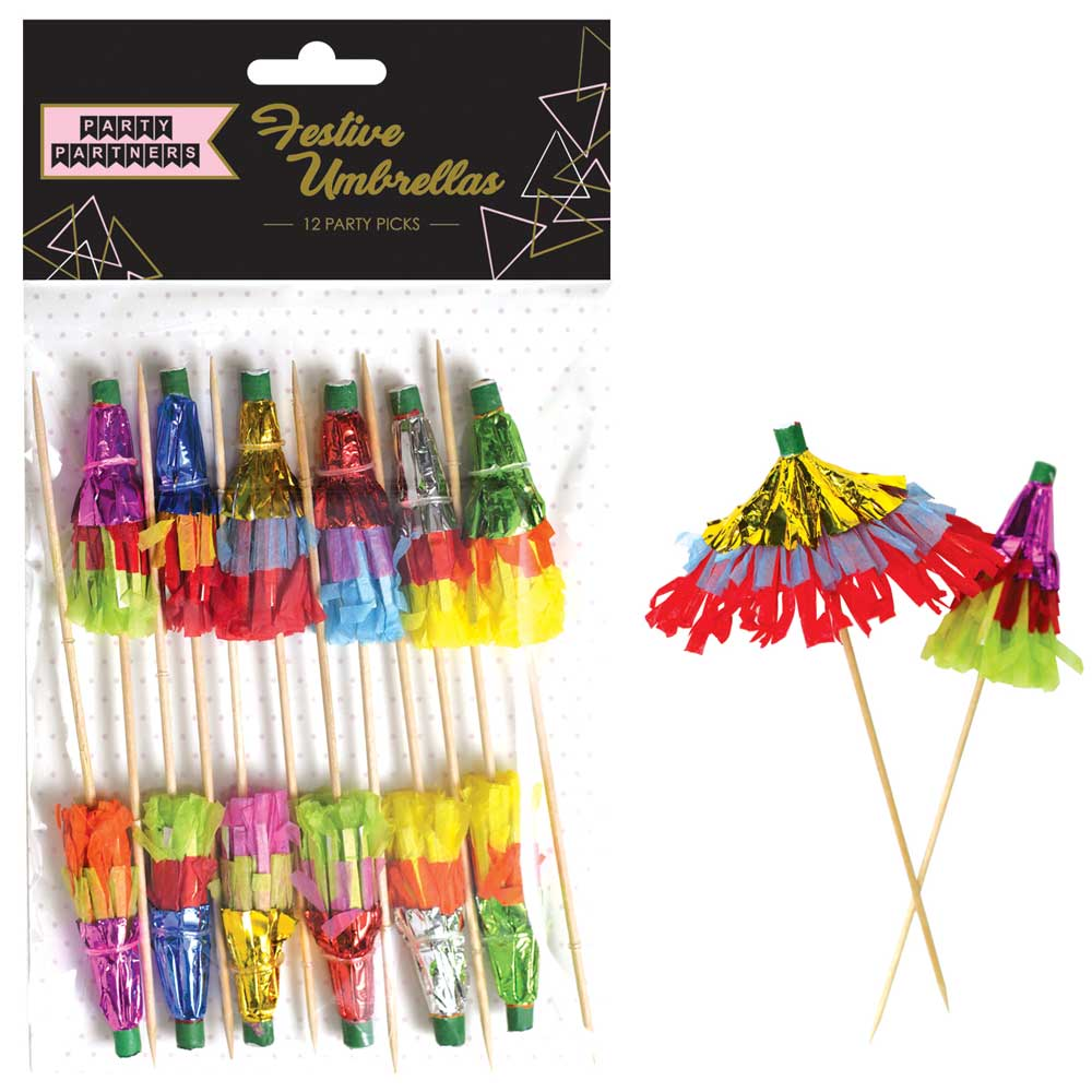 Extra Frilly Parasol Picks aka Drink Umbrellas