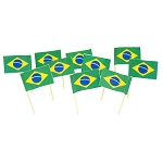 Brazil | Brazilian Flag Toothpicks (100)