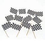 Black & White Checkered Flag Toothpicks (100)