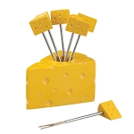Cheese Wedge Party Fork Set (6)