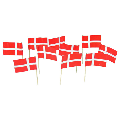 Danish Flag Toothpicks Denmark Theme Party Decorations