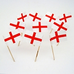England | English St Geoge Cross Flag Toothpicks (100)