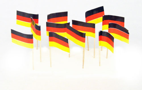 Germany | German Flag with Black Eagle Toothpicks (100)