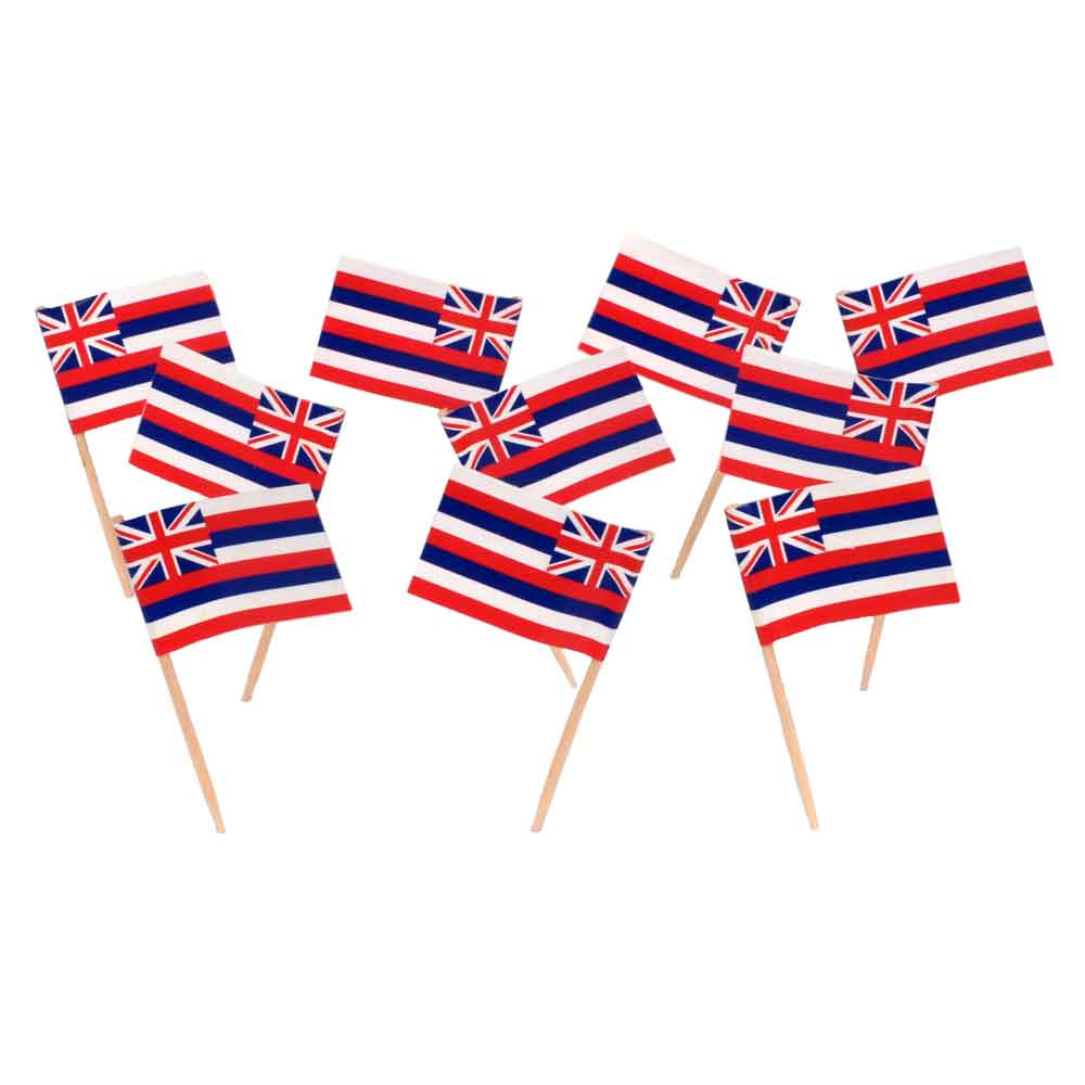 Hawaii | Hawaiian State Flag Toothpicks (100)