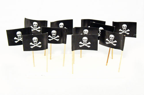 Jolly Roger Pirate Flag Toothpicks (100)