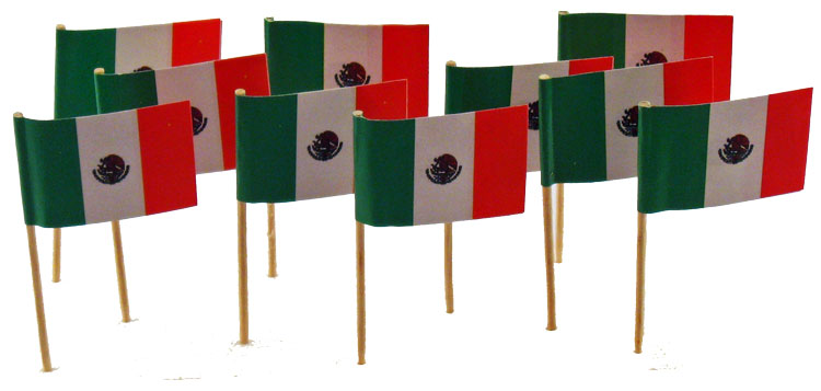 Mexico | Mexican Flag Toothpicks (100)