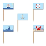 Nautical Icons Toothpick Flags (50)