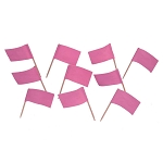 Pastel Pink Flag Toothpicks (100)