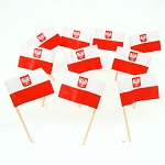 Poland | Polish Flag With Coat of Arms Toothpicks (100)