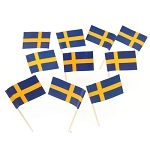 Sweden | Swedish Flag Toothpicks (100)