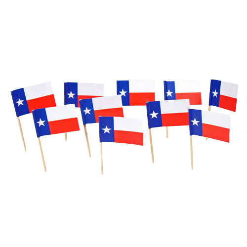 Texas | Texan Flag Toothpicks (100)