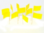 Yellow Flag Toothpicks (100)