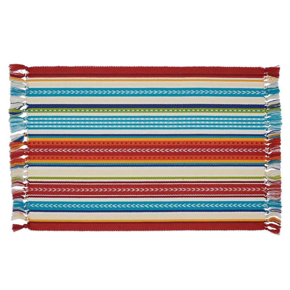 Baja Stripe Fringed Mexican Placemat