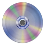 CD Compact Disc Retro Music Paper Plates (8) - 9-inch