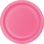 Candy Pink Round Paper Plates (24) - 2 sizes