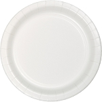 Classic White Round Paper Plates (24) - 2 sizes