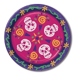 Day of the Dead Paper Plates (8) - 9-inch