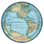 World Globe Map Paper Plates (8)