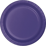 Purple Round Paper Plates (24) - 2 sizes