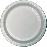 Shimmering Silver Round Paper Plates (24) - 2 sizes