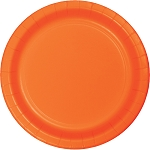 Sunkissed Orange Round Paper Plates (24) - 2 sizes