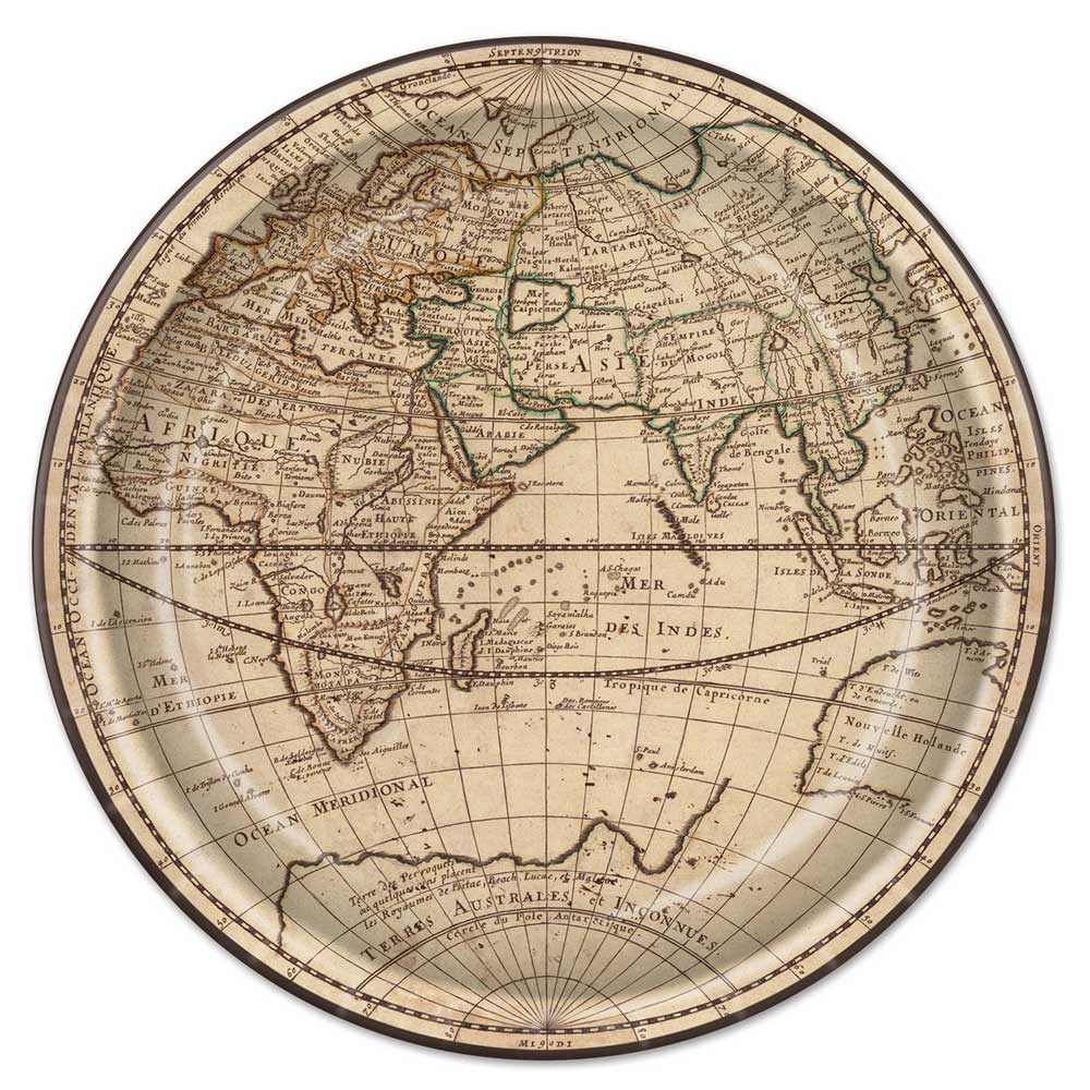 World Map Paper Plates (8)