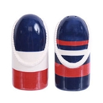 Ceramic Striped Buoy Salt & Pepper Shakers - 2 colors