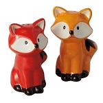 Ceramic Foxes Salt & Pepper Shakers
