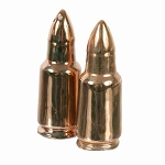 Gold Bullets Ceramic Salt & Pepper Shakers
