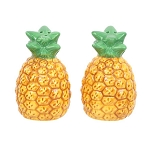 Ceramic Golden Pineapple Salt & Pepper Shakers