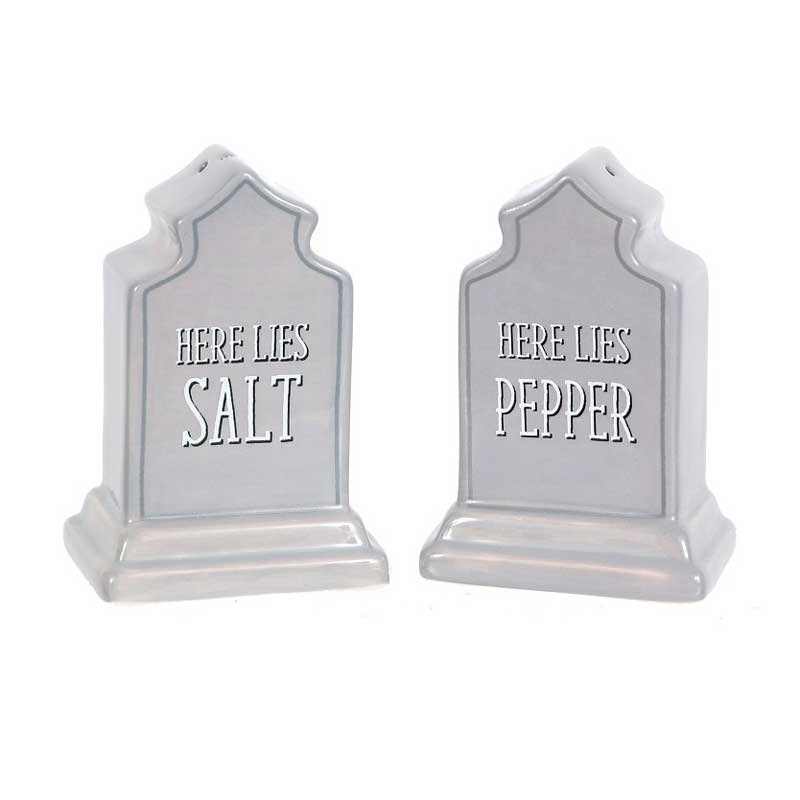 Ceramic Tombstone Salt & Pepper Shakers **CLEARANCE**