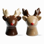 Red-Nosed Reindeer Salt & Pepper Shakers