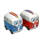 Surfer VW Beach Bus Ceramic Salt & Pepper Shakers