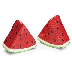 Watermelon Wedges Ceramic Salt & Pepper Shakers