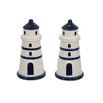 Classic Blue & White Lighthouse Salt & Pepper Shakers