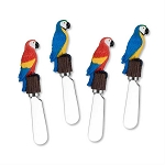 Colorful Macaw Parrot Handle Spreaders (4)