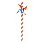 Red, White & Blue Striped Pinwheel Paper Straws (6)