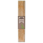 Wood Grain Print Paper Straws (25)