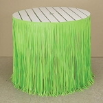 12-Foot Fresh Lime Green Plastic Fringe Table Skirt