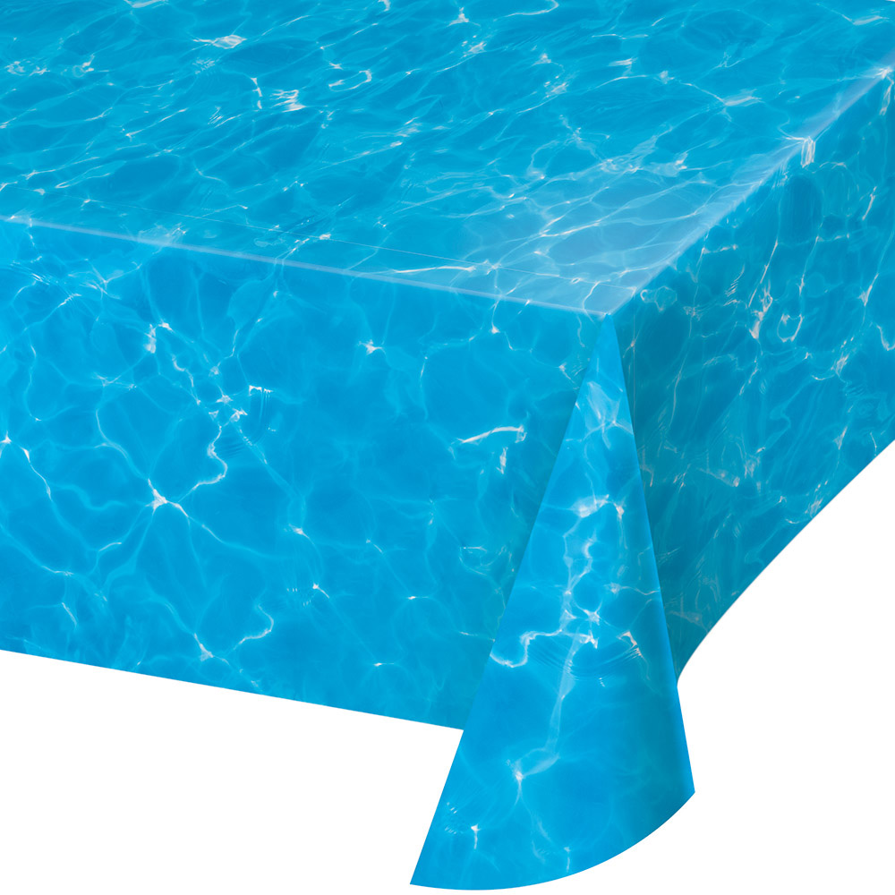 Azure Blue Water Plastic Tablecover