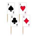Playing Cards Toothpick Flags (50)