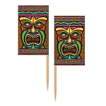 Tiki God Flag Toothpicks (50)