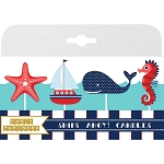 Ships Ahoy Nautical Birthday Candles (4)