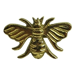 Golden Honey Bee Brass Napkin Ring