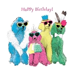 Birthday Poodlemania Napkins (20) - 2 sizes