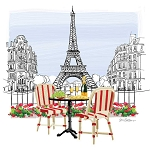 Bistro de Paris Napkins (20) - 2 sizes