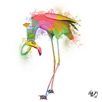 Fab Funky Flamingo Napkins (20) - 2 sizes