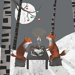 Holiday Foxes Midnight Feast Napkins (20) - 2 sizes