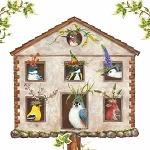 Madcap Bird House Party Napkins (20) - 2 sizes