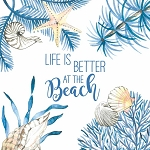 Ocean Life Is Better Napkins (20) - 2 sizes